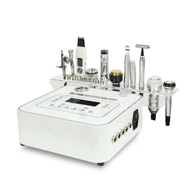 Diamante microdermabrasion microcorrente máquina face lift/rf mesoterapia eletroporação dispositivo beleza facial profissional