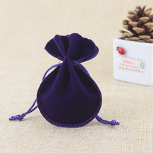 velvet bags jewellery pouches 50pcs/lot 7*9cm small drawstring for jewelry necklace earrings rings packaging display