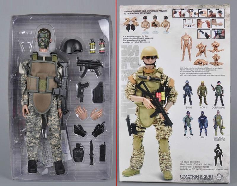 1//6 Militaire Combat Soldat Clothing Set Pour PHICEN M33 M34 M35 musculaire Figure