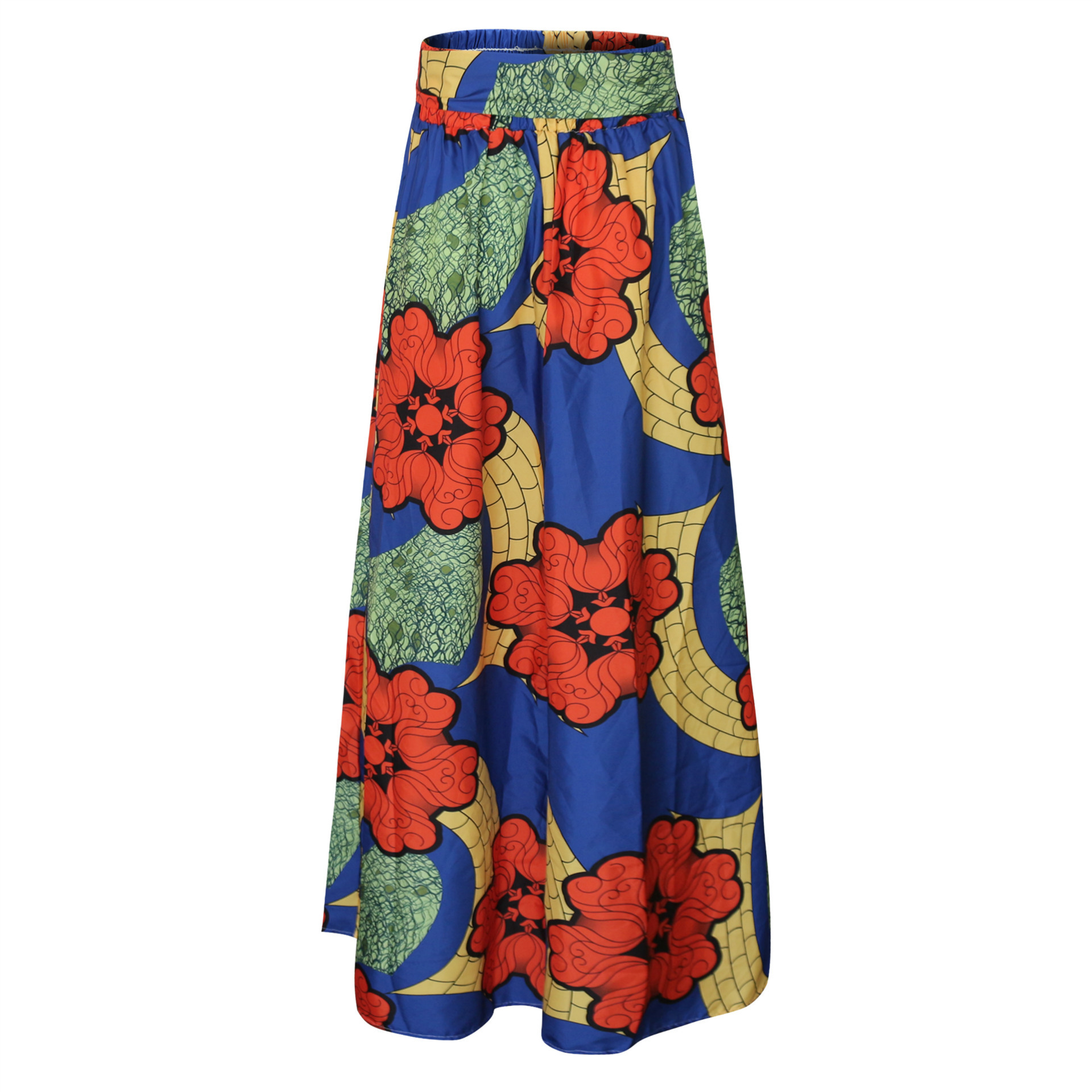 500fab91d9b Plus Size Africa Clothes 5XL Indonesia Ankara Indian African Pattern Print  Women Summer Autumn Skirt Fashion Bandage Long Skirts-in Africa Clothing  from ...