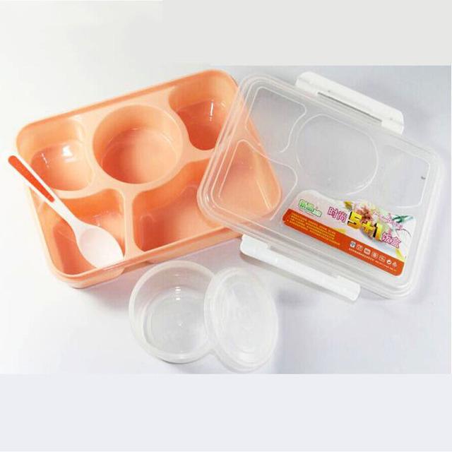 Baby Kids Food Container Bento Video Show with Soup Bowl Children Dinnerware School Portable Food Storage Container