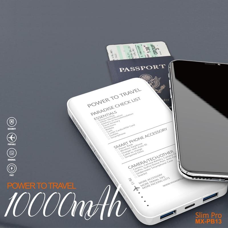 MOXOM power Bank 10000 мАч светодиодный блок питания для iPhone Xiaomi HUAWEI SAMSUNG USB C Быстрая зарядка внешний аккумулятор|Внешние аккумуляторы|   | АлиЭкспресс