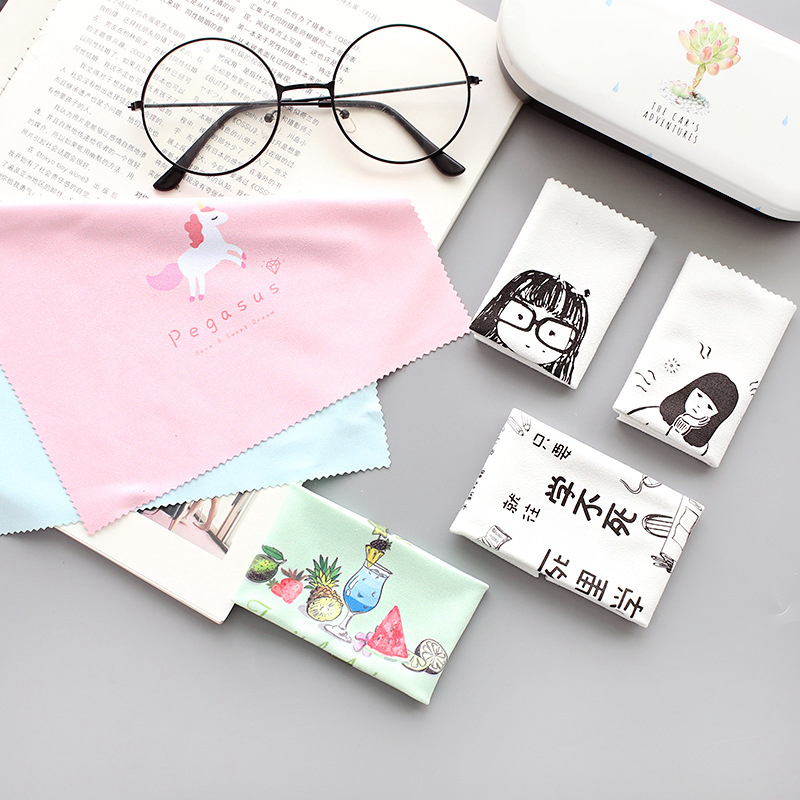 Travel Accessories Glasses Sunglasses Screen Cleaning Cloth Strument Suede Portable Women Packing <font><b>Organizers</b></font> Dropshipping image