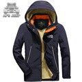 Original Marca AFS JEEP Invierno Gruesa Hombres Encapuchados chaquetas Nuevo 2016 Outwear Abrigos Ropa Rompevientos Cálida Chaqueta Transpirable
