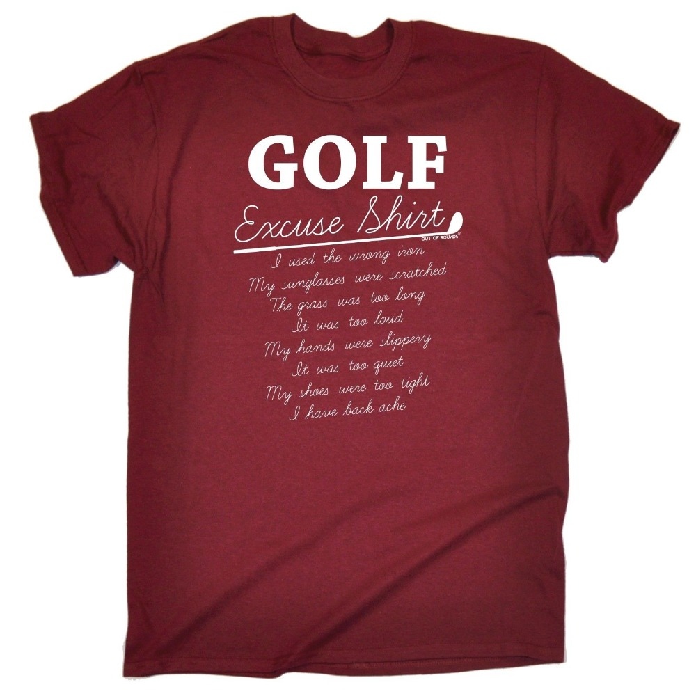 Excuse Shirt T-Shirt Ball Glove Golfing Putter Iron Funny Birthday Gift T Shirt Summer Famous Clothing