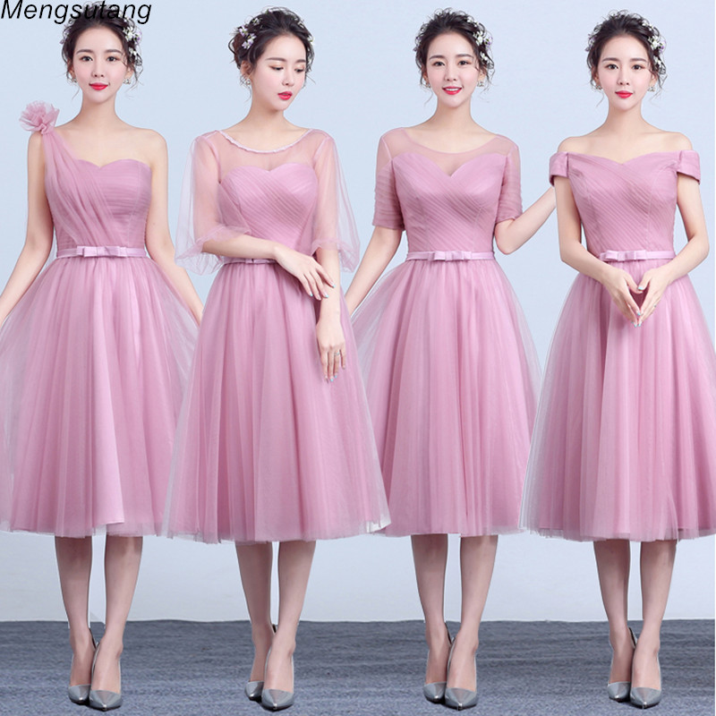 Robe de soiree New Arrival Tea-Length Cameo Brown Sexy Short   Bridesmaid     Dresses   Backless Women party prom   dress   4 styles
