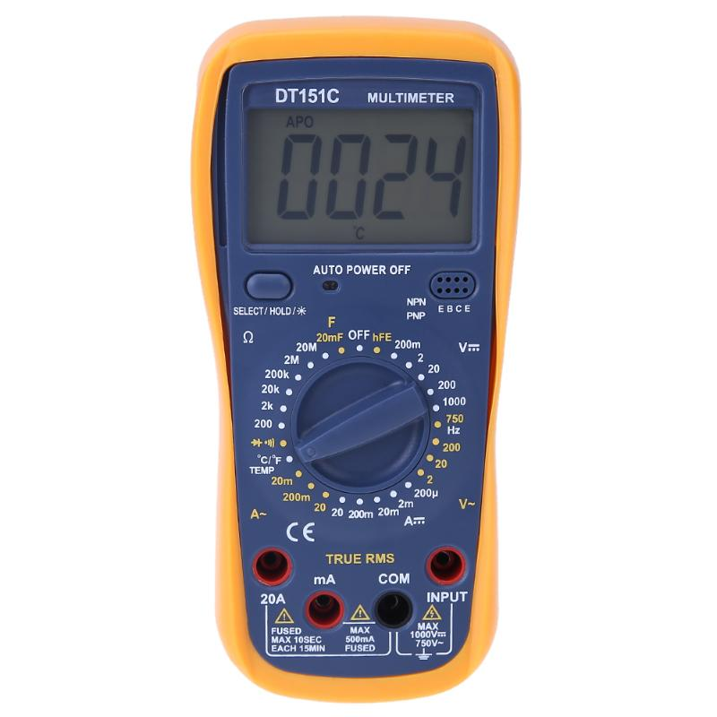 High Precision True RMS Digital Multimeter 1999 Counts Handheld Multimeter with Temperature Capacitance LCD Backlight my68 handheld auto range digital multimeter dmm w capacitance frequency