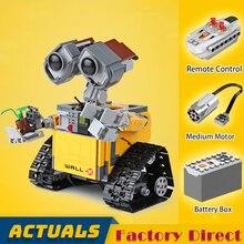 Пульт дистанционного управления WALL-E робот идеи серии строительные блоки фильм фигурки Модель Кирпичи RC игрушка детский подарок LegoINGlys