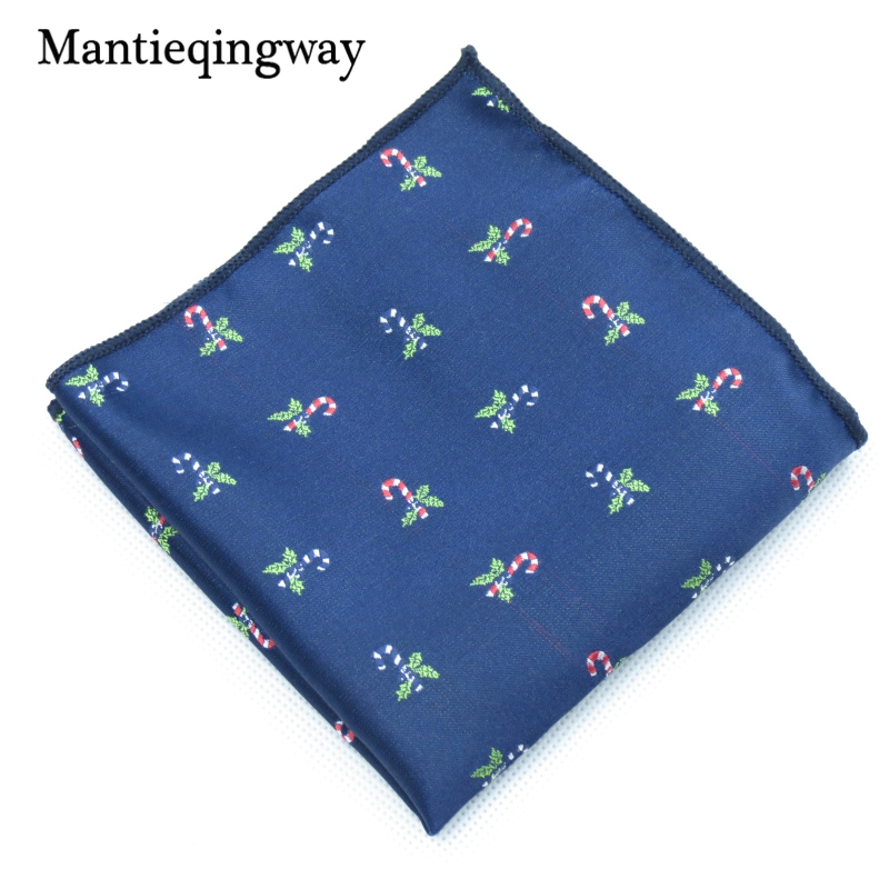 Mantieqingway Christmas Bell Printed Handkerchiefs Pocket Towel For Mens Pocket Square Red Chest Towel Hanky For Women Hankies