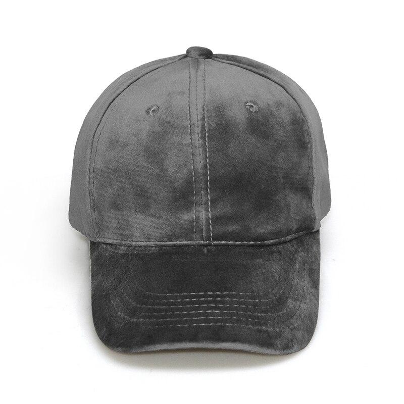 bbae39bb50cd2b 2017 Velvet Baseball Cap Women Plain Black Snapback Men Fashion Pure Caps  Flat Hats Bone Gorras Casquette