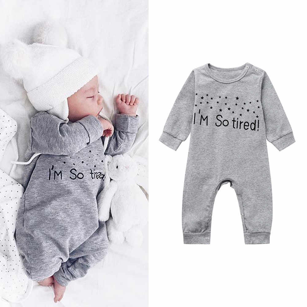 e66320bee MUQGEW 2018 Hot sale Newborn Infant Baby Boy Girl Letter Romper Jumpsuit  Playsuit Outfits Clothes Dropshipping