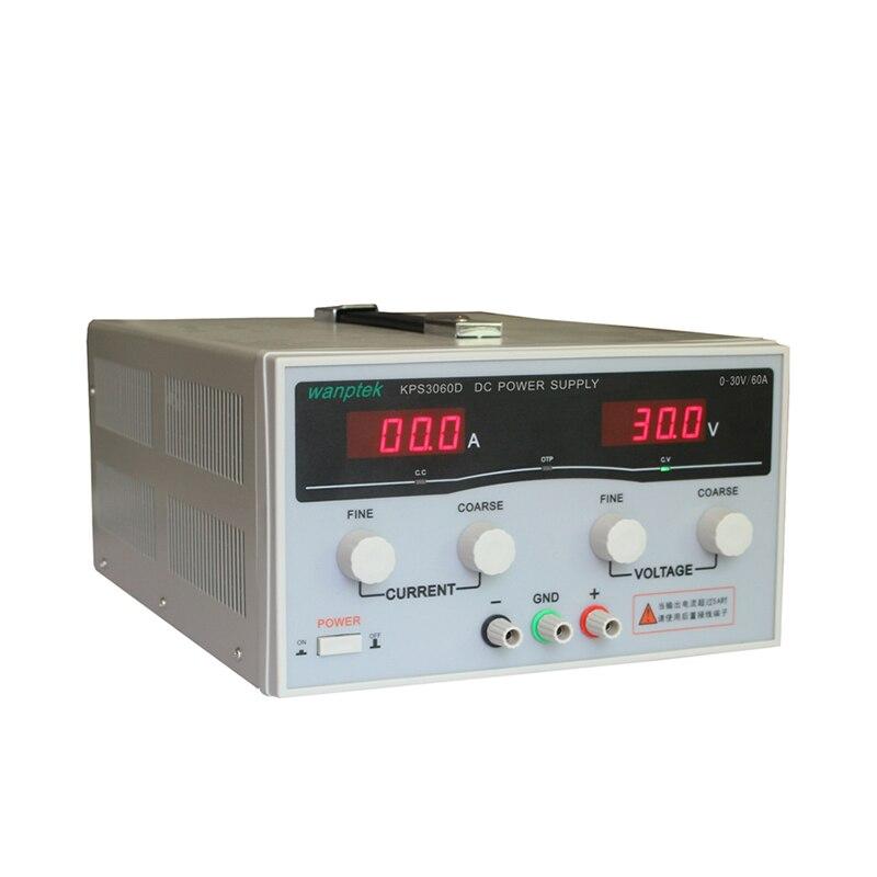 220V 0-30 V/0-60A KPS3060D haute précision haute puissance réglable affichage de LED commutation DC alimentation de laboratoire