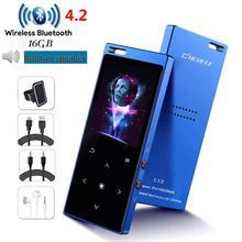 ポータブル bluetooth 4.2 MP3 プレーヤー 8 ギガバイト/16 ギガバイトスピーカーハイファイ音楽 fm ビデオ録音電子書籍ウォークマンミニ sd まで 128 グラム