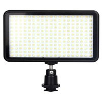 Led 228 Continuous On Camera Led Panel Light, Portable Dimmable Camera Camcorder Led Panel Video Lighting For Dslr Camera Ca
