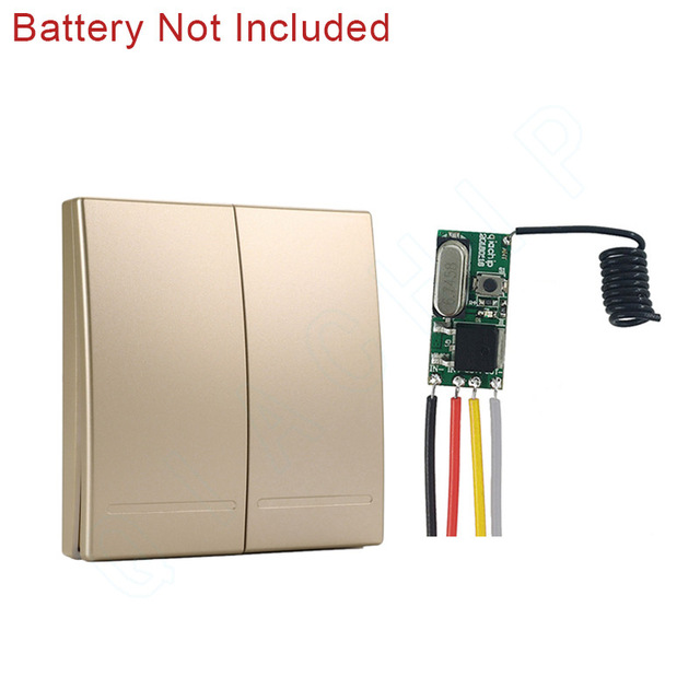 Image 5 - 433MHz Universal DC 12V 24V 1 CH Wireless Remote Control Switch RF Receiver Controller Mini Module Led Lighting Wall Switch-in Remote Controls from Consumer Electronics