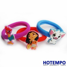 3pcs/set pua moana Ocean Princess Vaiana Action Figure Toys Hair Band for Baby Girls Hair Ring Hair accessories