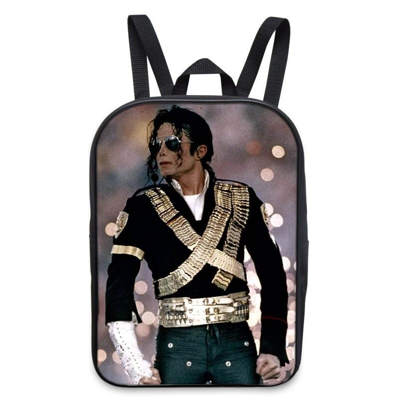 New Cool Michael Jackson Mini School Backpack Women