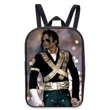 New Cool Michael Jackson Mini School Backpack Women Children Book Bag Printing Fashion Travel Men Laptop Shoulder Backpack Bags