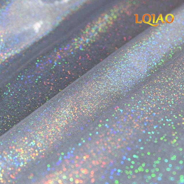LQIAO Backdrop 5x8 Laser Light Blue Glitter Photography Booth Photo Background Props for Birthday Wedding Makeup YouTube Videos Living Room Shooting