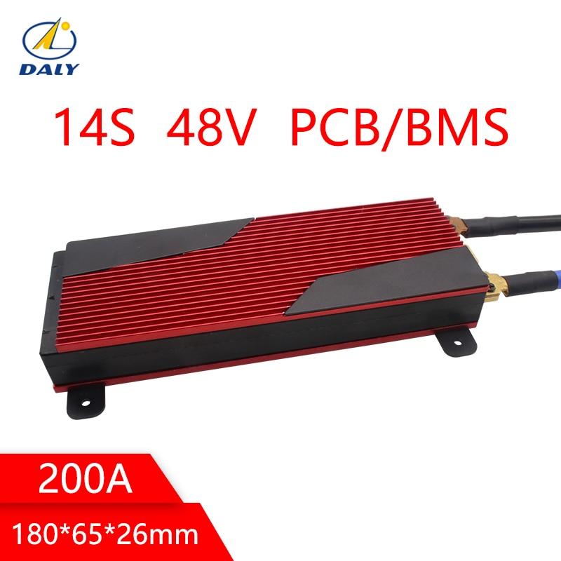 Daly 14 s 48 v batteria pcm bms 200a e-bike sistema di gestione della batteria li-ion Con Equilibrio Per Il Solare sistema di energia batteria al litio