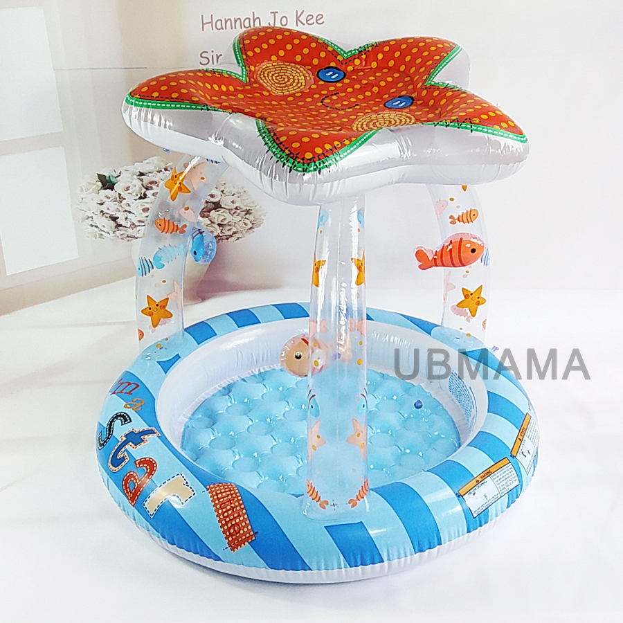 Cute baby starfish sunshade top swimming pool children bath baby sea pool bottom aeration basin ...