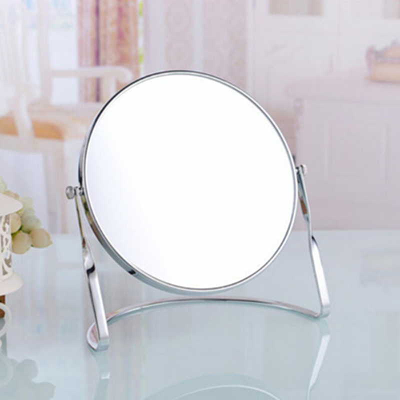 Homedec Round Swivel Table Mirror on Stand 3x Magnification Dual Side Cosmetic Mirror