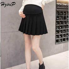 9fb7da5513f4f HziriP Maternity 2018 Skirts New Spring Summer Autumn Care Belly Pleated  Short Skirt Pregnant Women Elegant Fashion Clothes