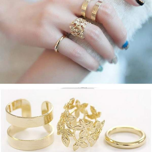 3Pcs set New Women Fashion Jewelry Knuckle Middle Finger