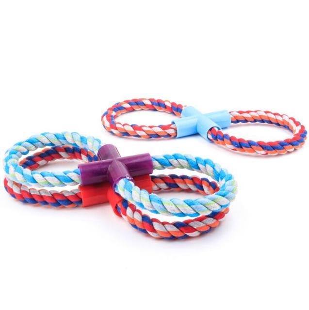Corda cane da compagnia giocattoli per cani di taglia grande cucciolo di cane giocattoli S L pet giocattoli corda di cotone cane morso di animale domestico gioco intrecciato di buona qualità colori casuali