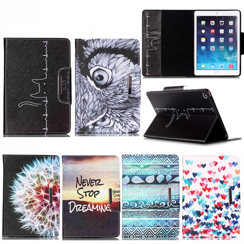 Fashion Cartoon For Apple Ipad Air 2 Case Tablet PC 9.7 Inch Covers Flip Stand PU Leather Case For Ipad Air2 Ipad 6 A1566 A1567 fashion yb for apple ipad air 2 air2 flip pu leather case cover cute tower tablet stand case with card holder for apple ipad 6