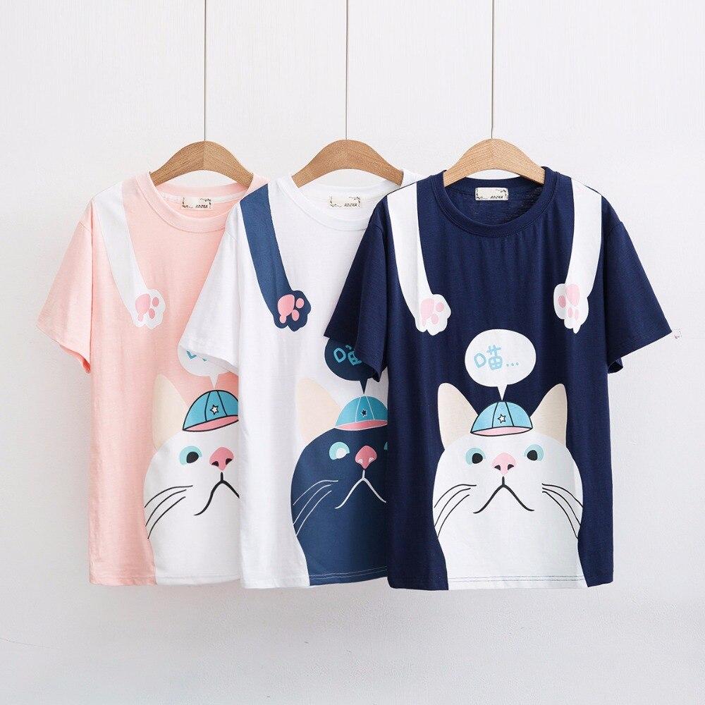 2017 2014 New Korean Autumn Kitty Pajamas Cute Cartoon