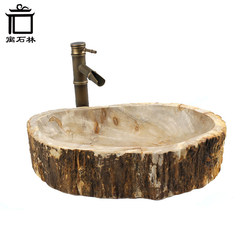 24kg to 46kg petrified wood washbasin vintage pastoral. Black Bedroom Furniture Sets. Home Design Ideas