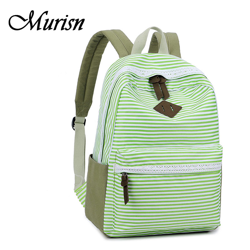 Feminine Backpack Striped Women Canvas Backpack Teenage Backpacks for Teen Girls Bagpack Back to School Bag Mochila Feminina canvas backpack women for teenage boys school backpack male