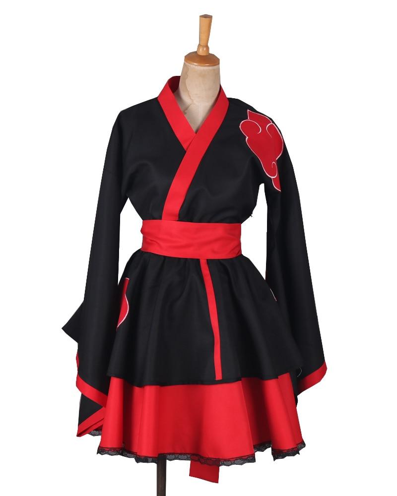 Naruto Shippuden Hyuga Hinata Lolita Kimono Dress Anime Cosplay Costume ////10
