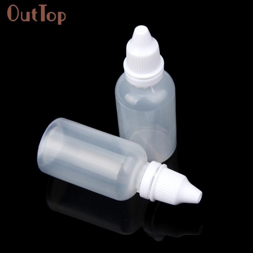 Beautiful Women 25/50/100PCS 30ml Empty Plastic Squeezable Dropper Bottles Eye Liquid Dropper Oct 21