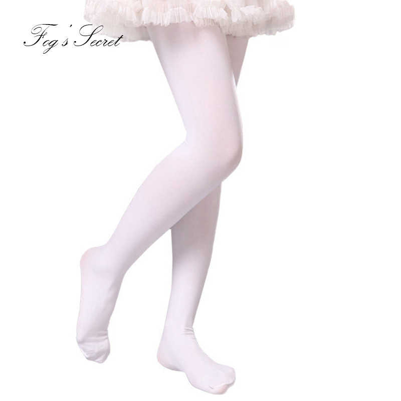 7656036dbf2 ... Children White Tight Professional Dance Stocking 80D Pantyhose Girly  tights Black Stocking For Performance ...