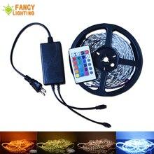 5М/10М набор 12В RGB светодиодные полосы света SMD 5050/3528 Сид тира 30/60leds/м лента с пультом дистанционного управления 5А адаптер питания свет