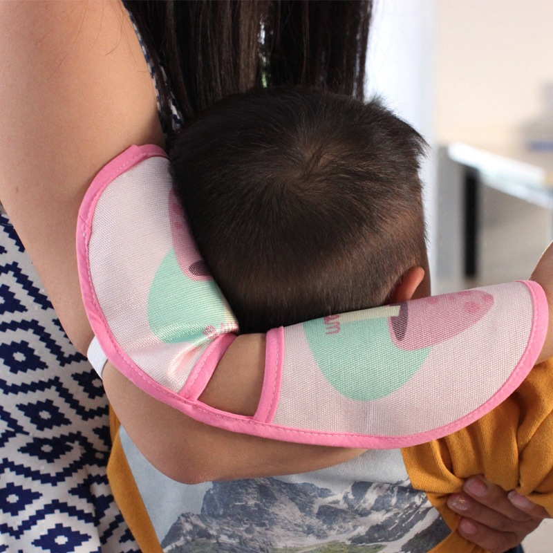 Newborn Breast Feeding Arm Mat Summer Ice Silk Cooling Arm Mat Infant Baby Sleep Pillow Head Care Mats Head Protector Pillow