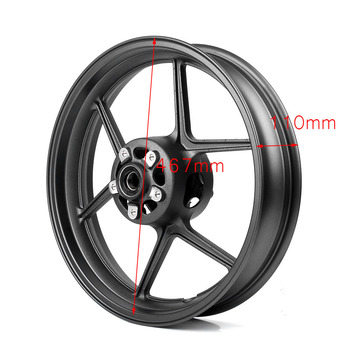 Aluminum Motorcycle Front Wheel Rim For Kawasaki Ninja ZX6R ZX-6R 2005-2017 & ZX-10R ZX10R 2006-2009 Matte Black
