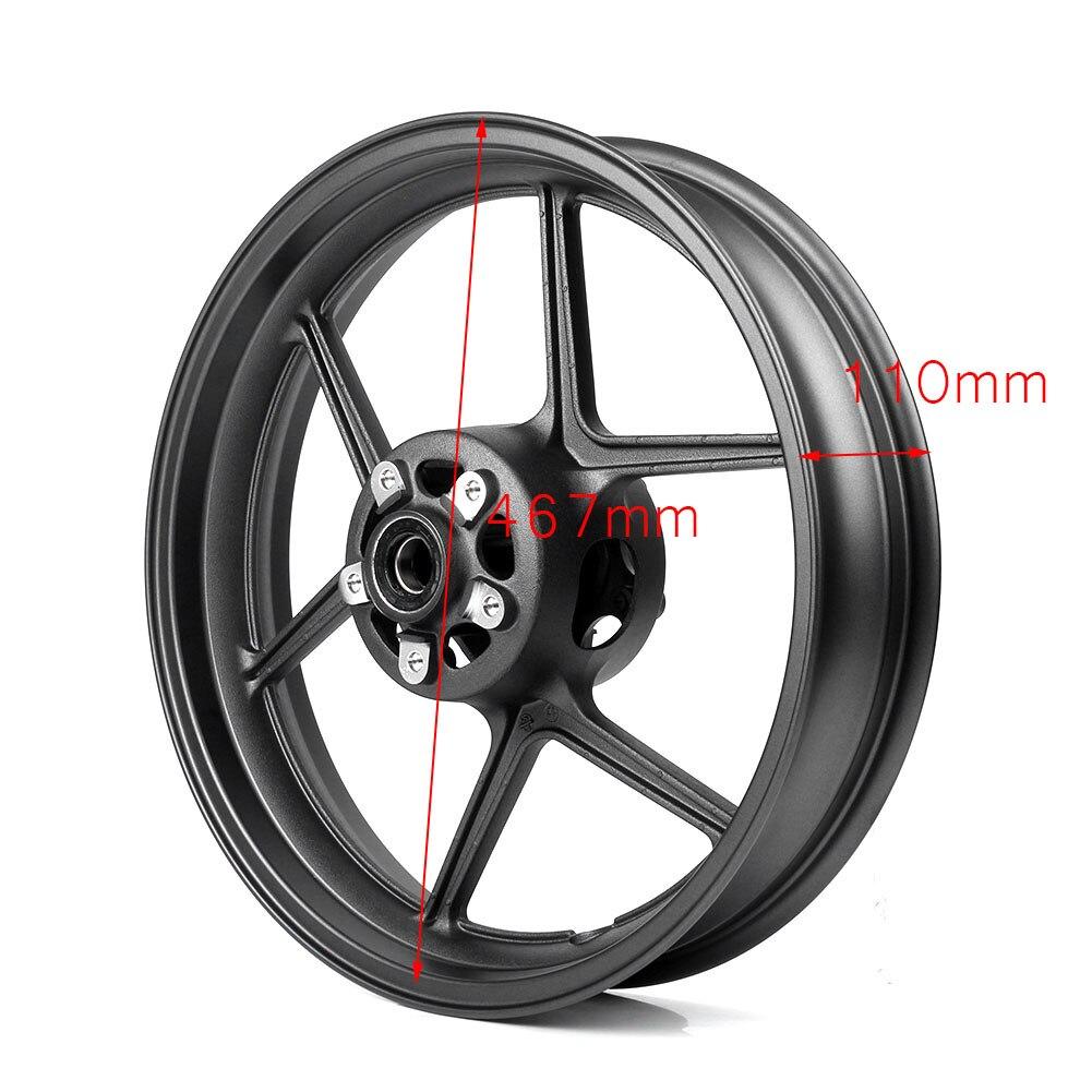 Aluminum Motorcycle Front Wheel Rim For Kawasaki Ninja ZX6R ZX 6R 2005 2017 & ZX 10R ZX10R 2006 2009 Matte Black