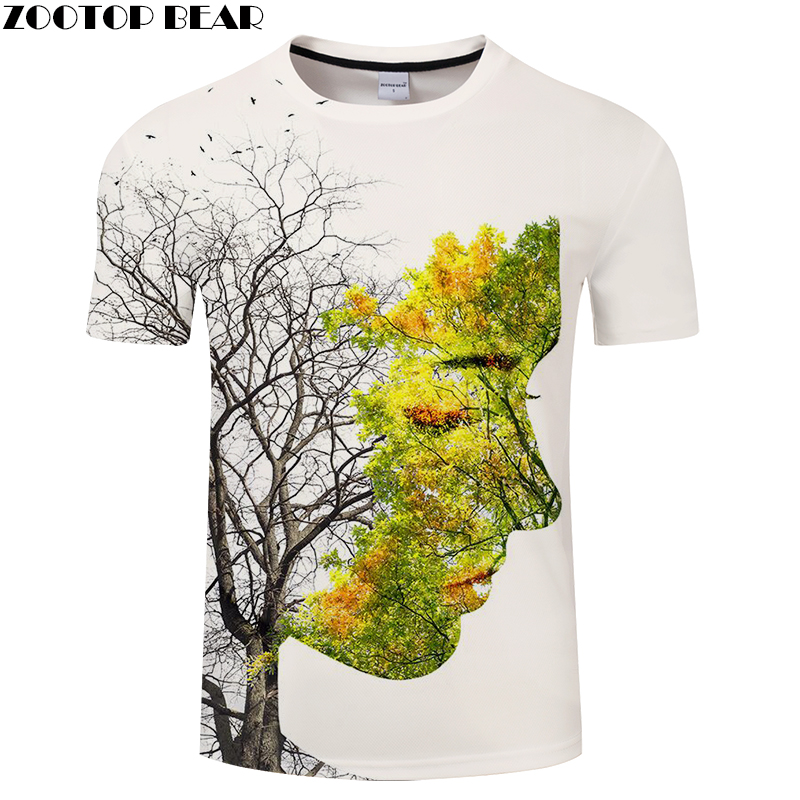 Beauty 3D Print T Shirt Men Women Tshirt Summer Funny T-shirt Short Sleeve Tee O-neck Tops Streetwear Dryad DropShip ZOOTOPBEAR