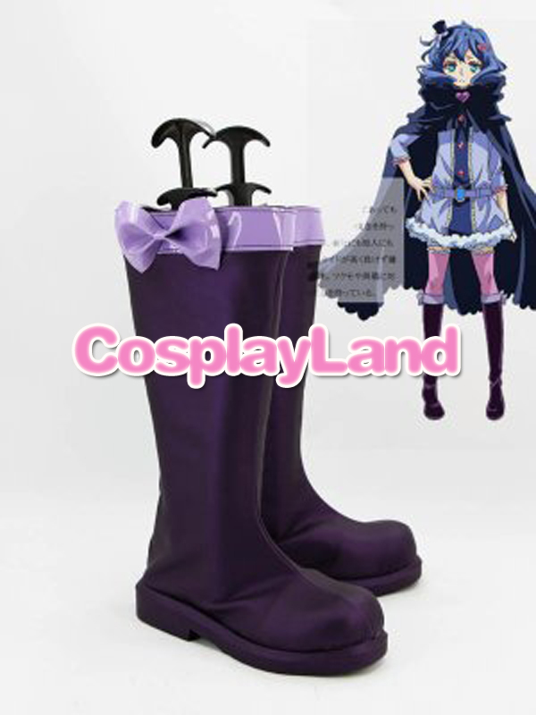 Customize Boots KARNEVAL Kiichi Purple Cosplay Boots Custom Any Size Anime Party Boots