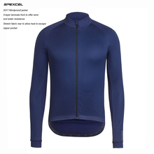 Cycling Jacket SPEXCEL Soft-Shell Fleece Winter Windproof 0-Degrees Top-Quality Navy/black