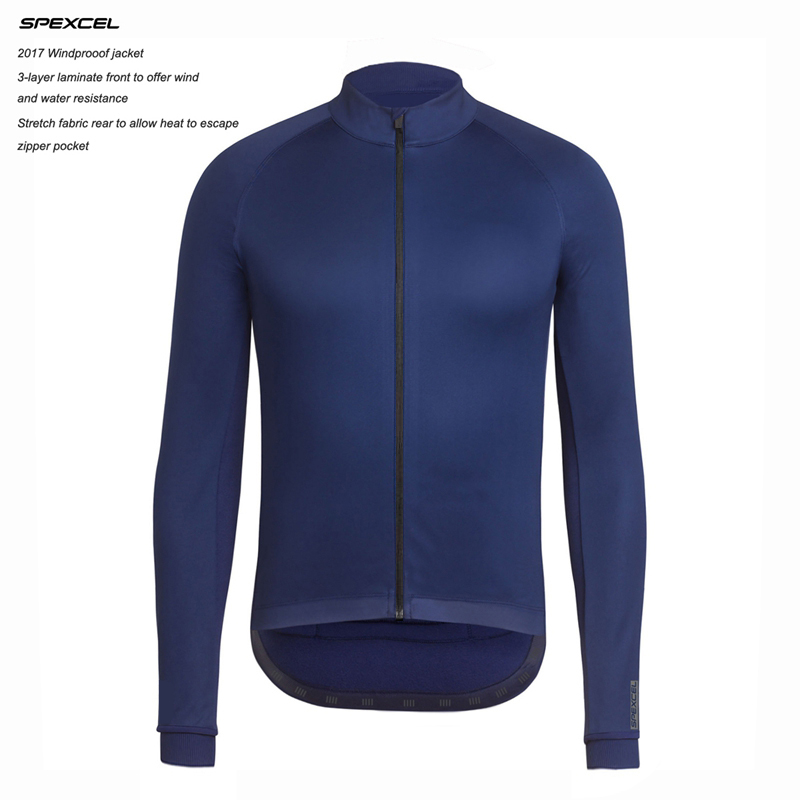 2017 New SPEXCEL Top quality 0 degrees Winter Windproof Jacket Winter thermal fleece soft shell Cycling jacket navy/black