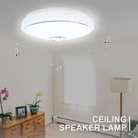 Modern LED Ceiling Light bluetooth Speaker Music 48 Bulb APP Phone Remote Control RGB Ceiling Speakers Lamp Indoor Room Lighting