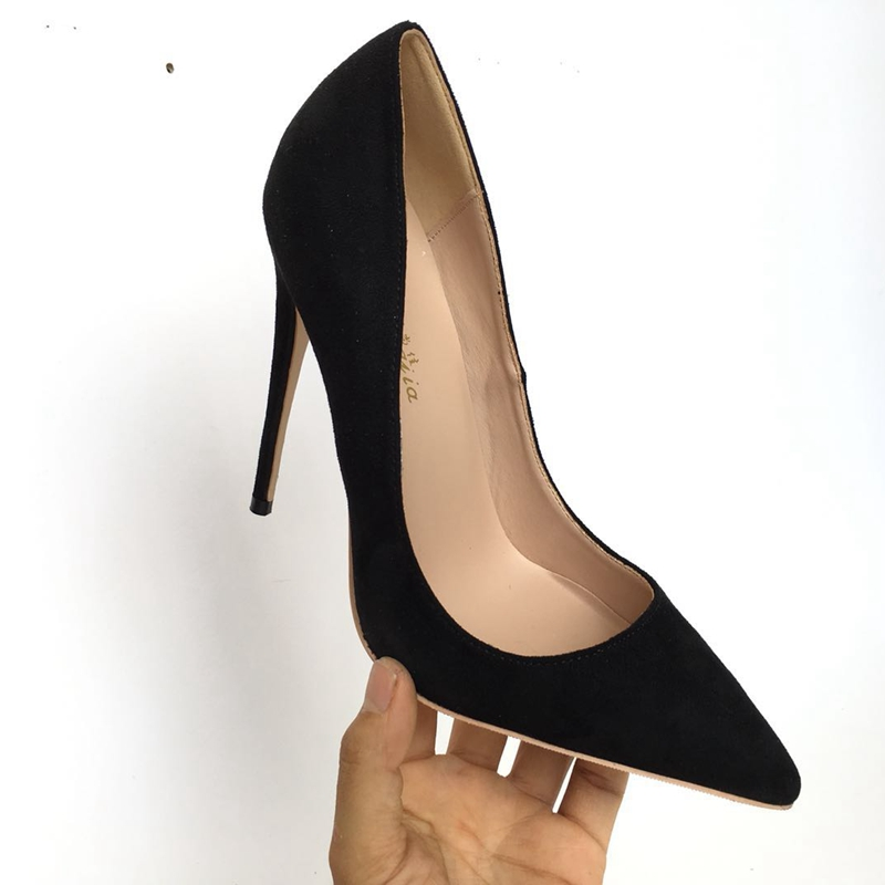 Pic Classiques Ol Shalllow As Cuir Mode En Pompes Pointu Bout Femmes De Pu Bureau Noir Talons Chaussures 2018 Couleur R7UPq78