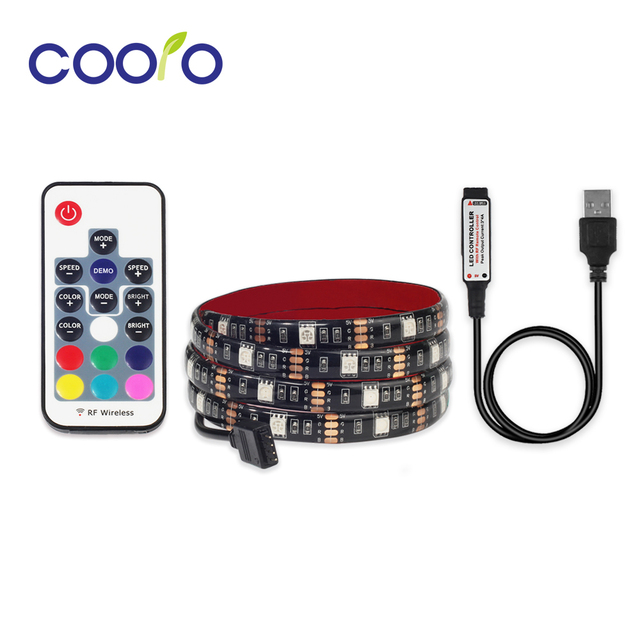 USB LED Strip 5050 RGB TV Background Lighting Kit Cuttable With 3 Key/ 17  Key/ 24 Key RGB LED Controller, 0.5M/1M/2M Set In LED Strips From Lights ...