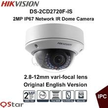 Hikvision Original Enlglish Version DS-2CD2720F-IS 2.8-12mm 30m IR Full HD 2MP 1080P IP67 Audio Mini Dome POE Network IP Camera