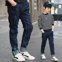 Hot Big Trai Jeans Trẻ Em Quần Trẻ Em Quần Hàn Quốc Quần Áo Trẻ Em Boy Quần Jeans Cậu Bé Tuổi Teen Denim Quần Tuổi 5 8 11 13 Năm