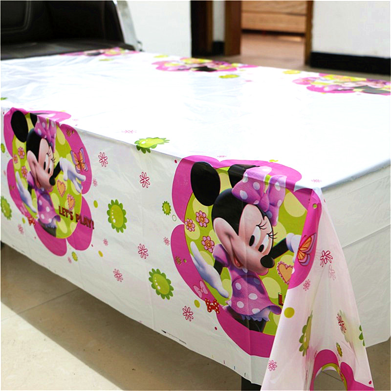 61pcs Disposable Party Tableware Minnie Mouse Birthday Party Decorations Supplies Pink Banner Cups Plates Tablecloths in Disposable Party Tableware from Home Garden